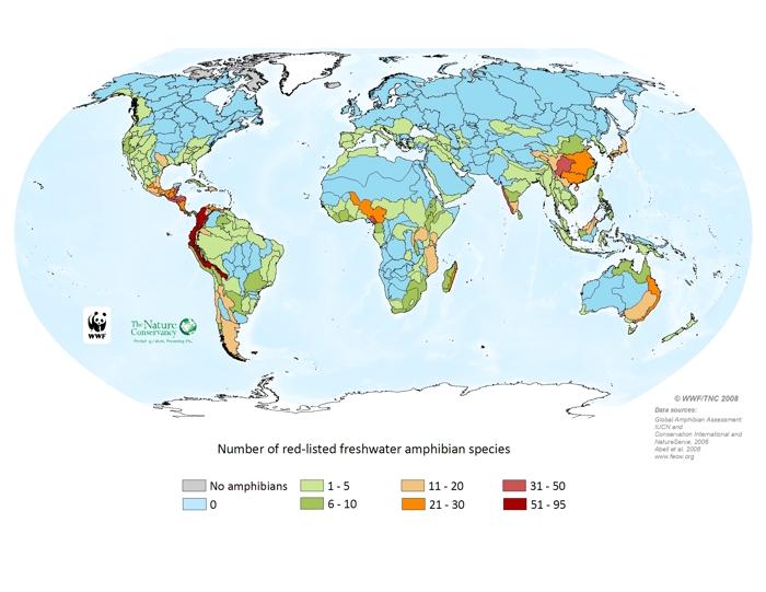 Threatened freshwater amphibians